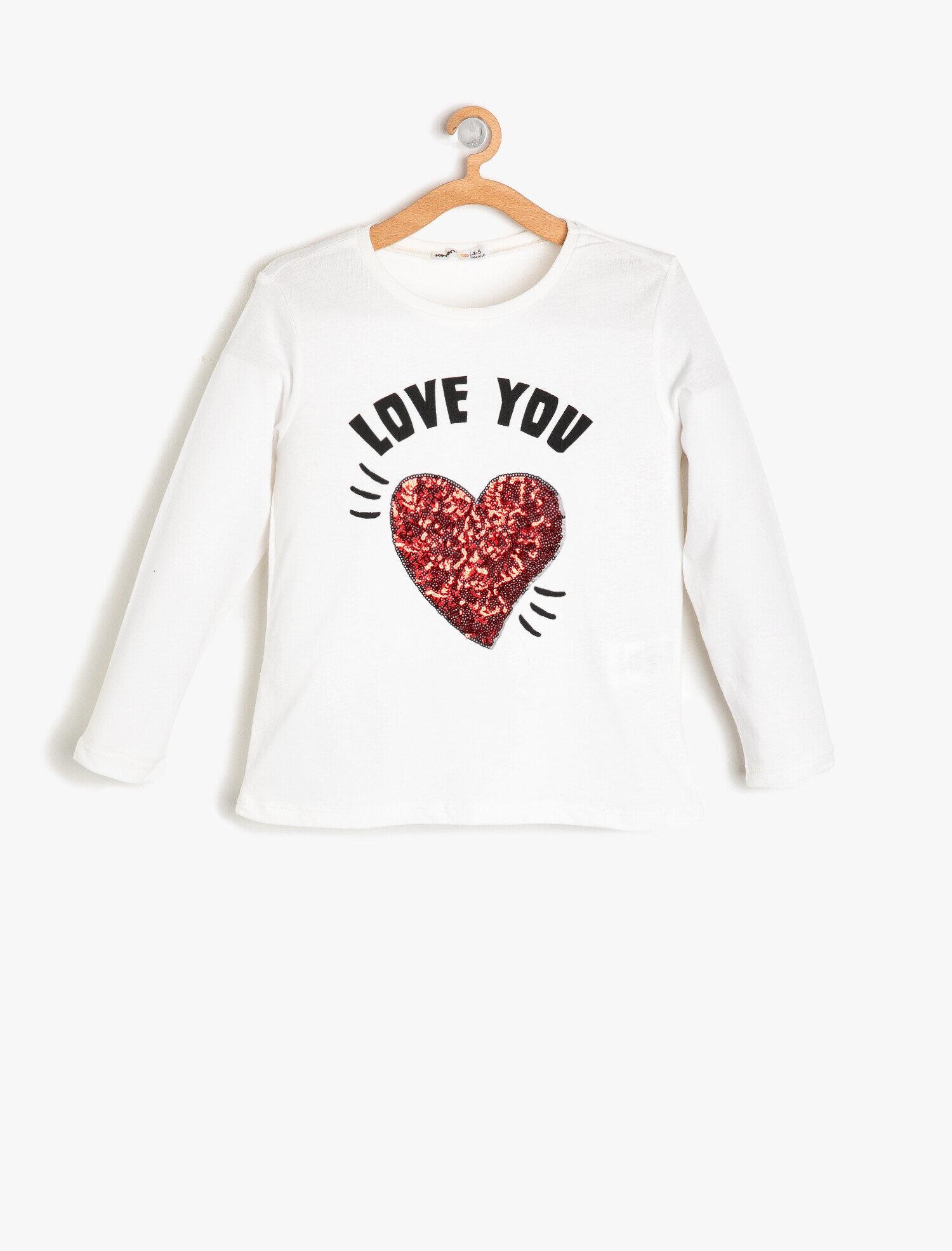 Koton Kız Çocuk Pul Detayli T-Shirt Ekru Ürün Resmi