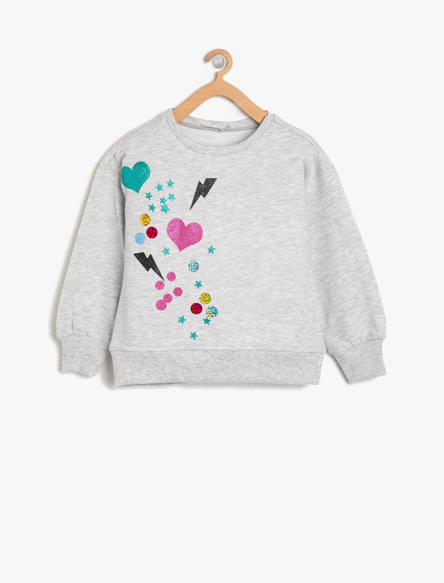 Koton  Kız Çocuk Sim Detayli Sweatshirt
