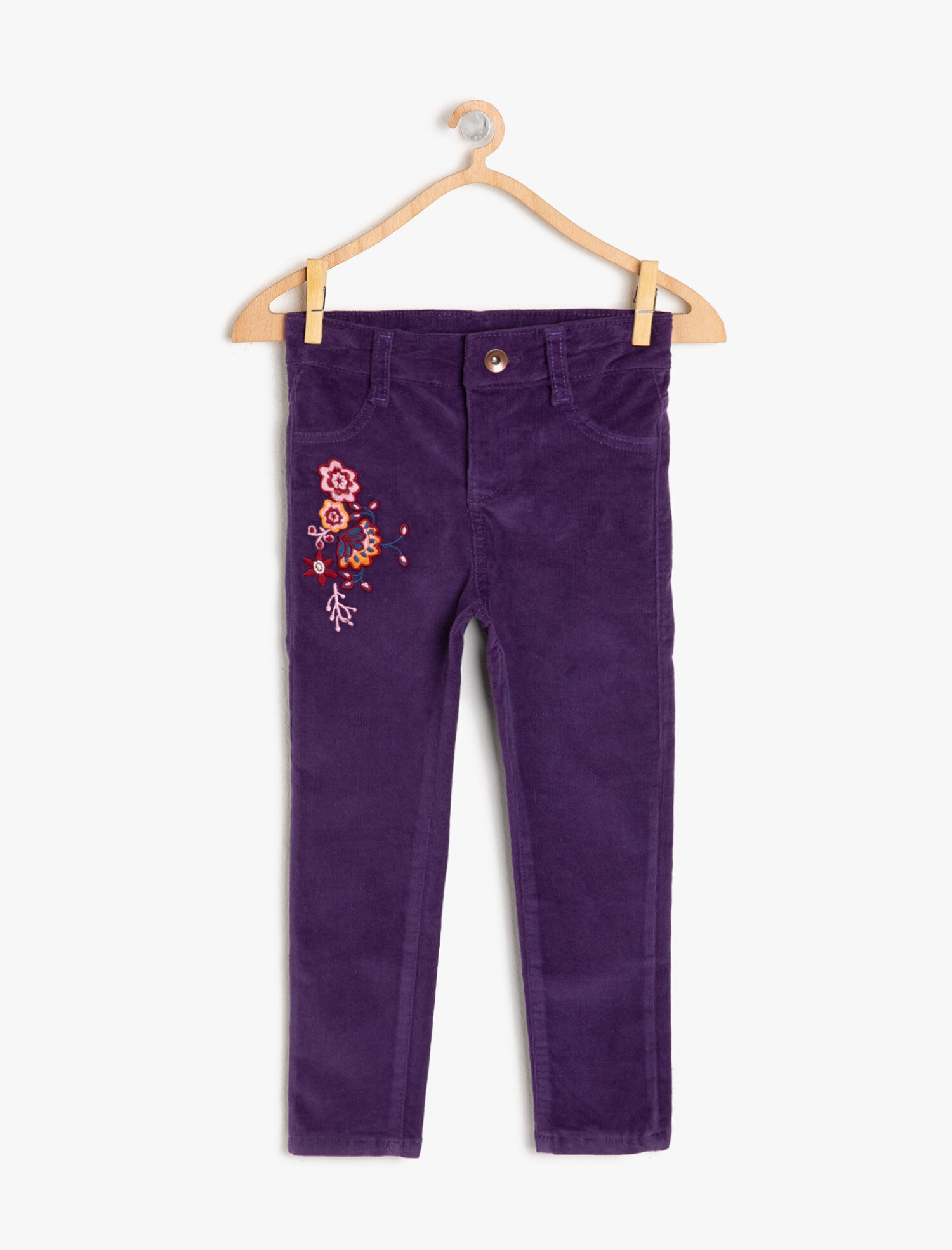 Koton Kız Çocuk Islemeli Pantolon Mor Ürün Resmi