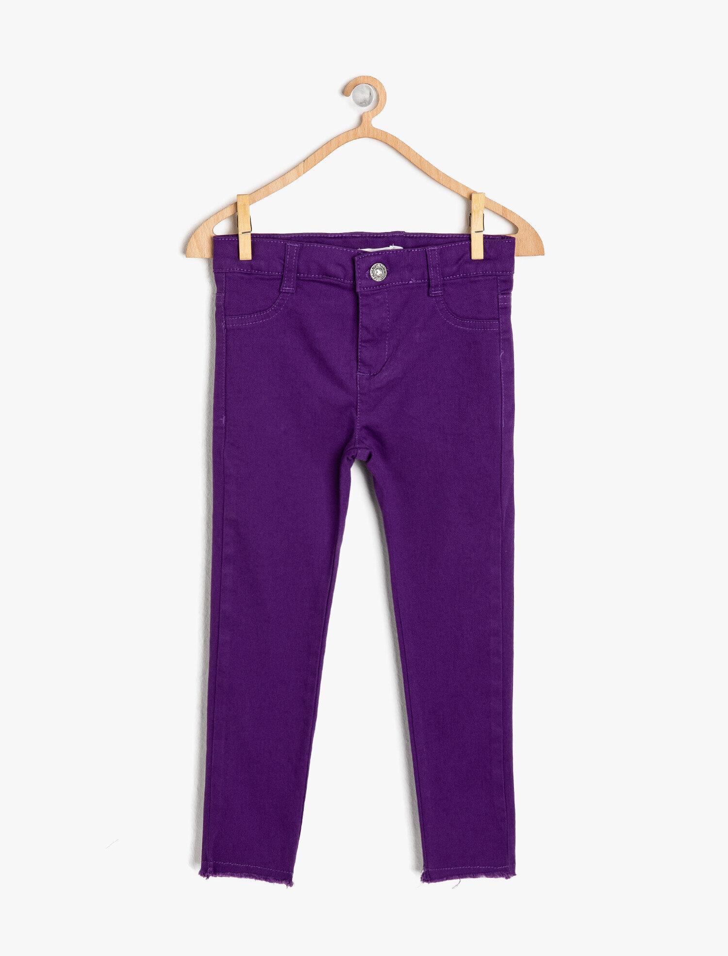 Koton Kız Çocuk Dar Kesim Pantolon Mor Ürün Resmi