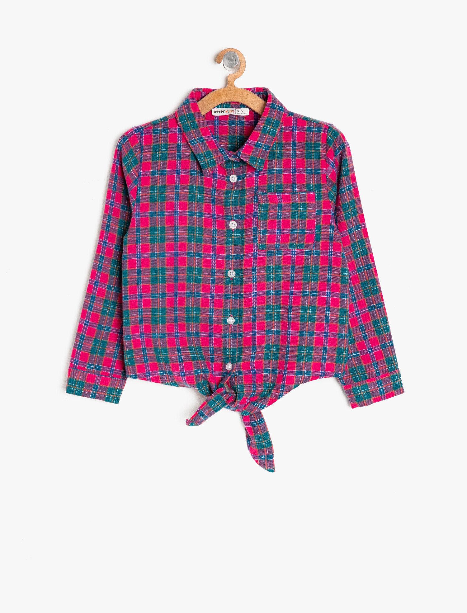 Koton Kız Çocuk Kareli Gömlek Yeşil Ürün Resmi