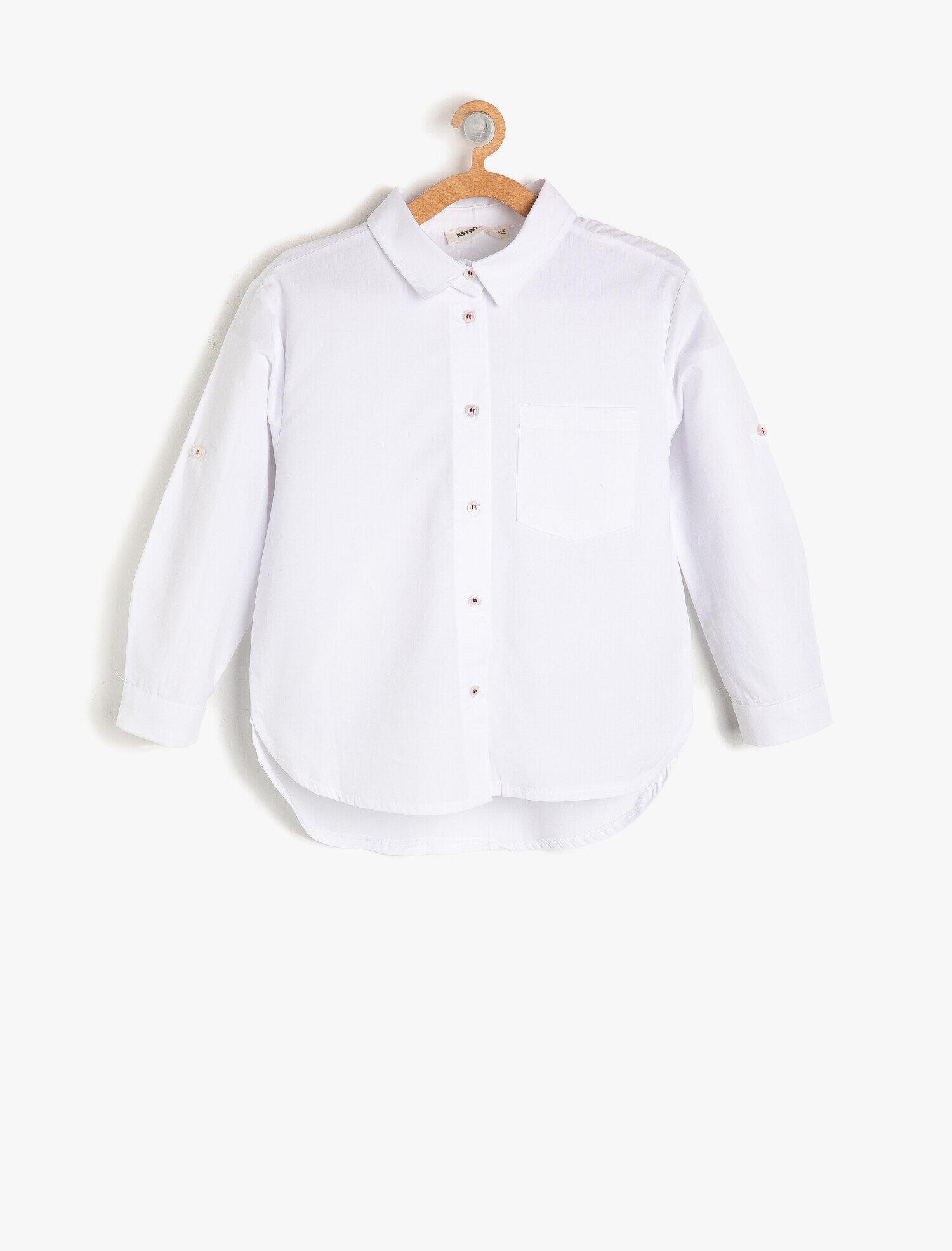 Koton Kız Çocuk Klasik Yaka Gömlek Beyaz Ürün Resmi