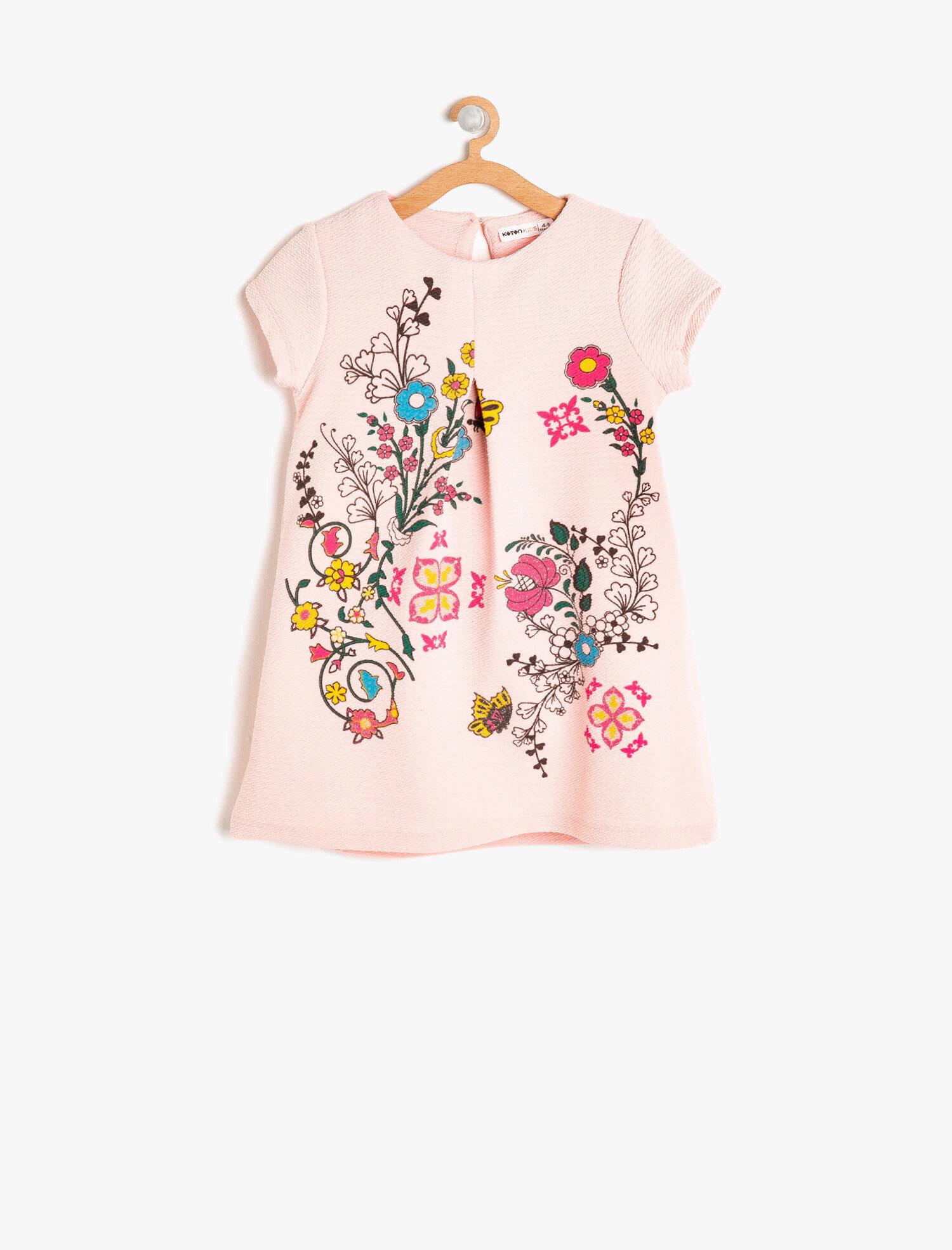 Koton Kız Çocuk Desenli Elbise Pembe Ürün Resmi