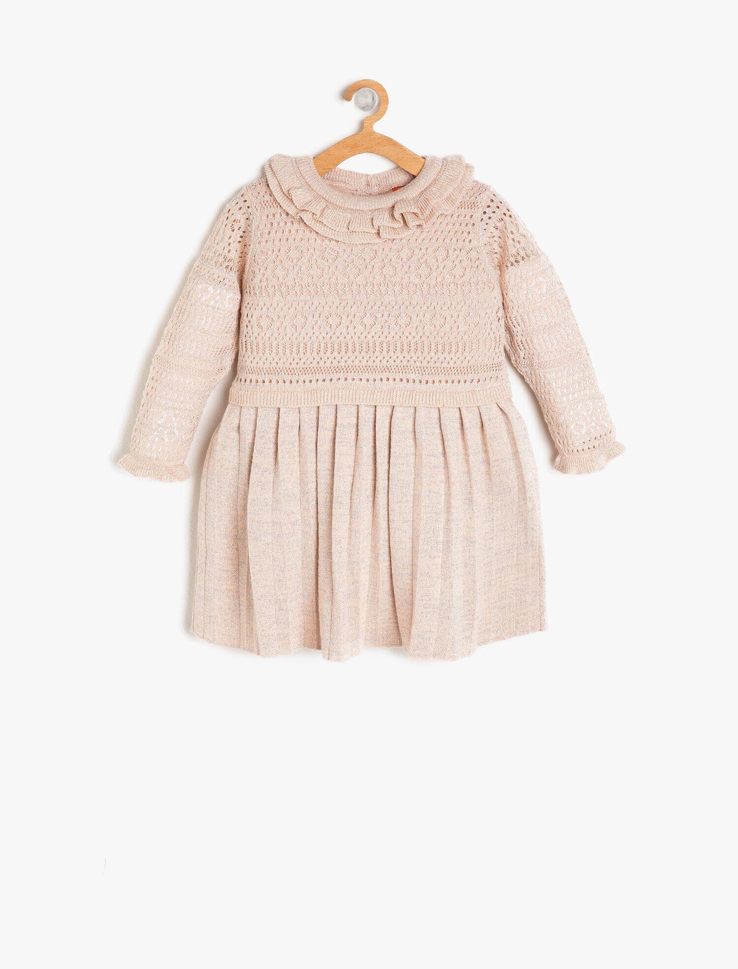 Koton Kız Çocuk Firfir Detayli Elbise Pembe Ürün Resmi