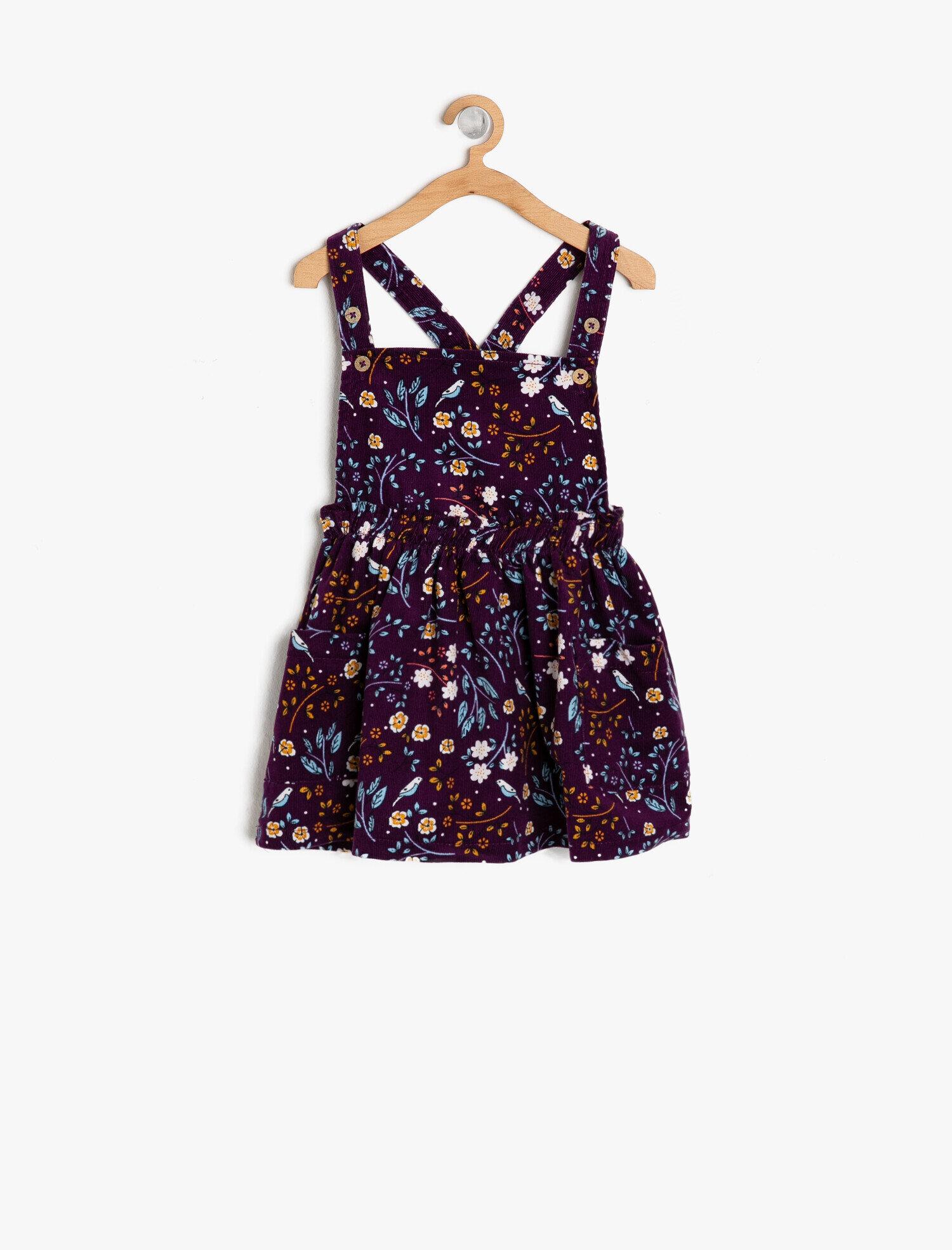 Koton Kız Çocuk Çiçek Desenli Elbise Mor Ürün Resmi