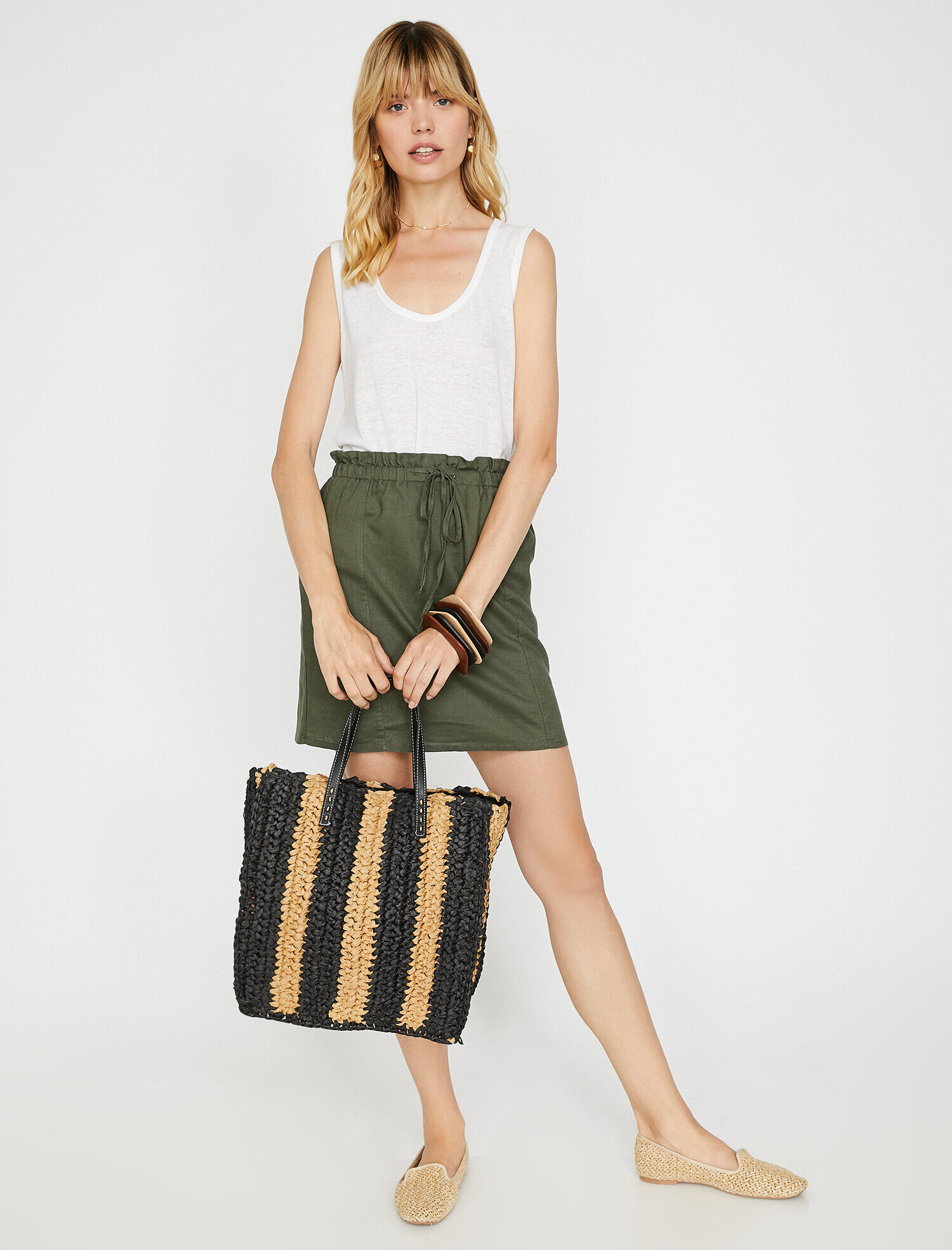 Koton Kadın Hasir Çanta