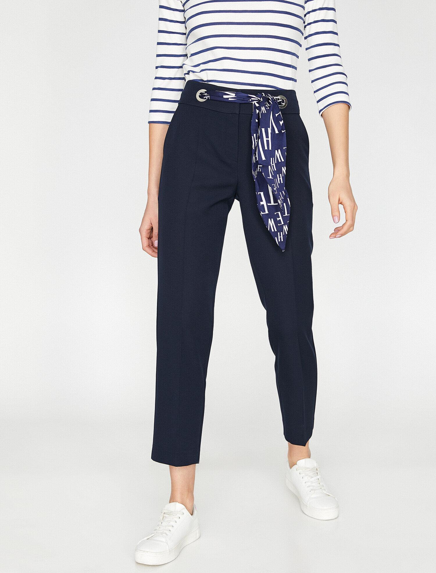 Koton  Kadın Kus Gözü Detayli Pantolon