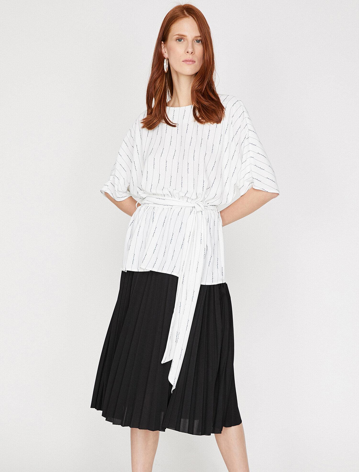 Koton Kadın Desenli Tunik Lacivert Ürün Resmi