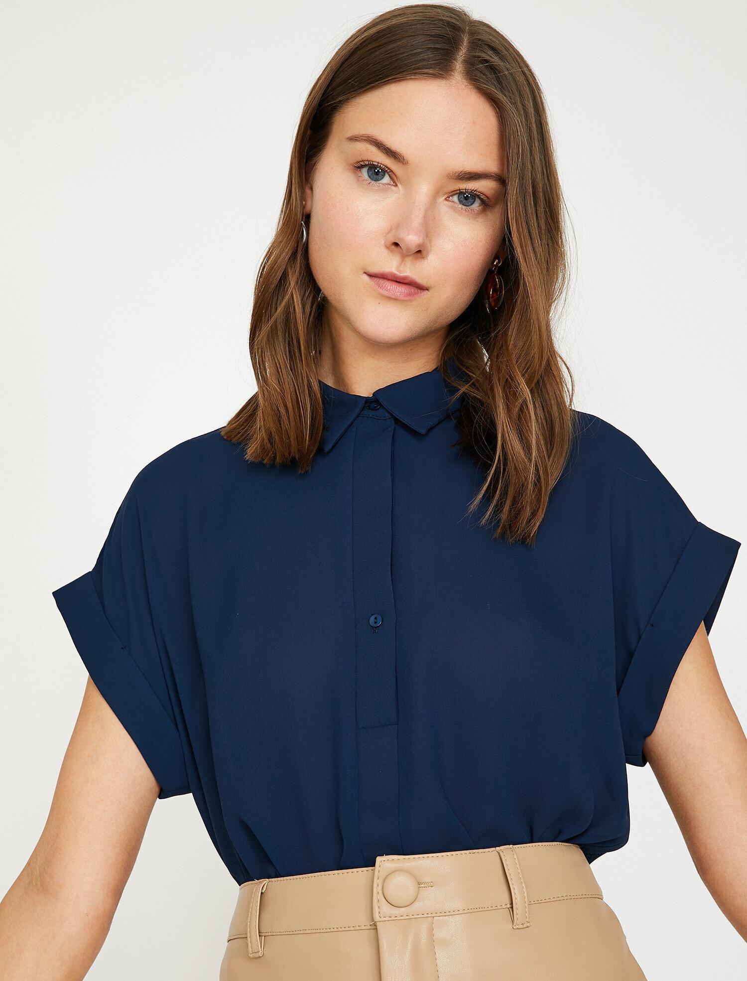 Koton  Kadın Yaka Detayli Bluz