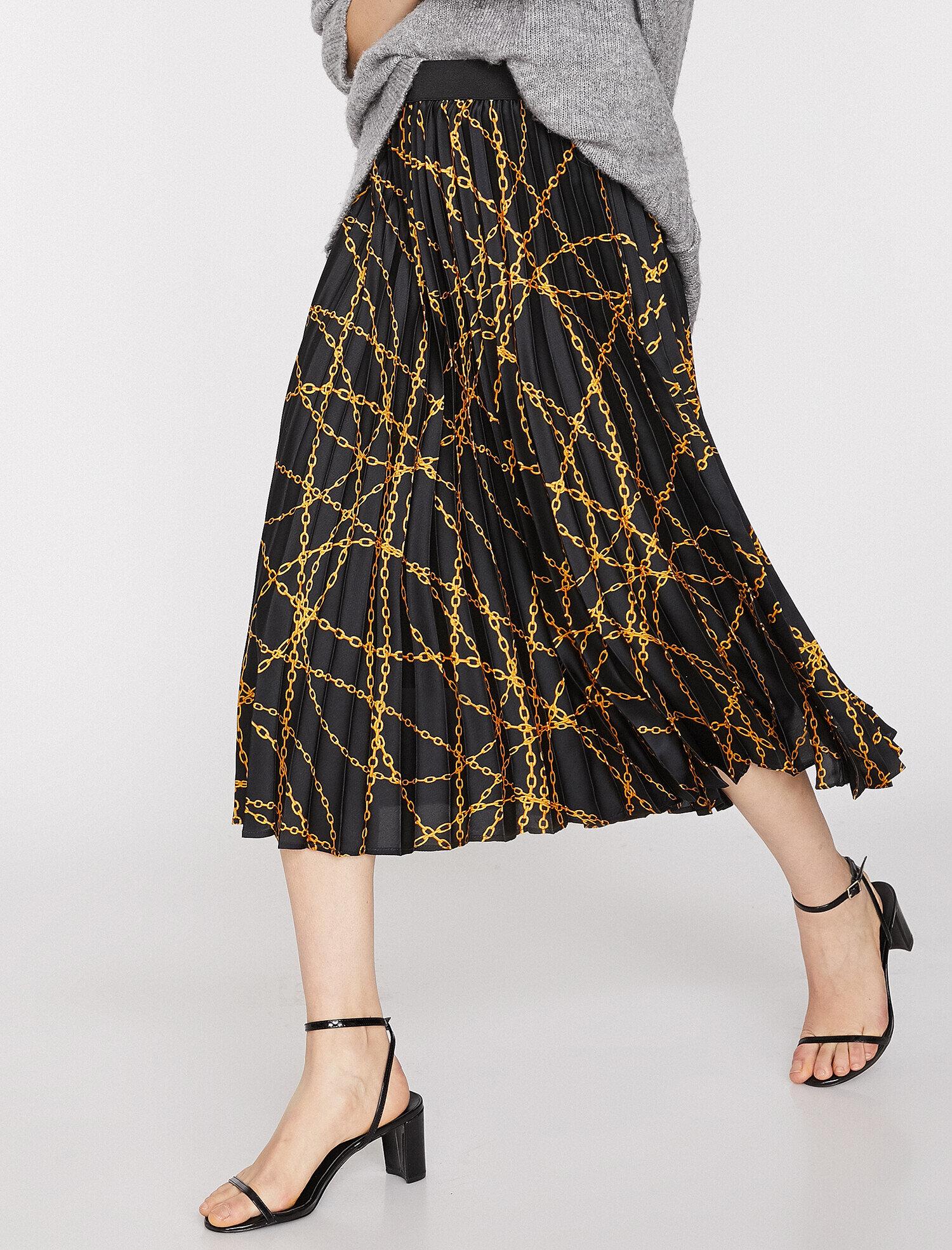 Koton Kadın Desenli Etek Siyah Ürün Resmi