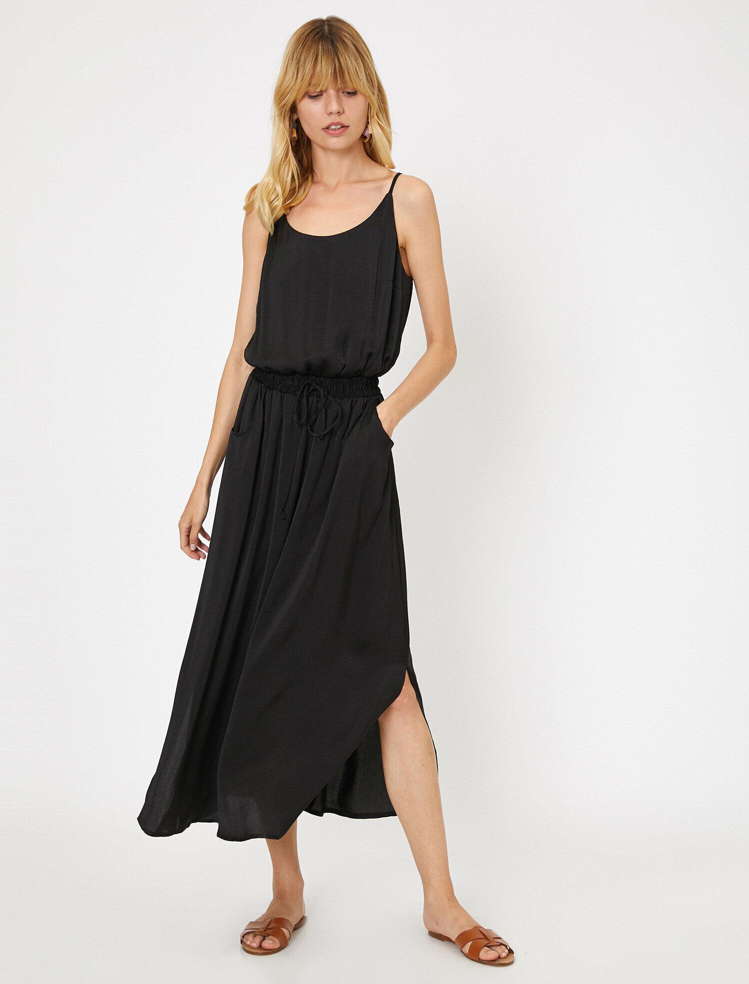 Koton  Kadın Beli Baglamali Elbise