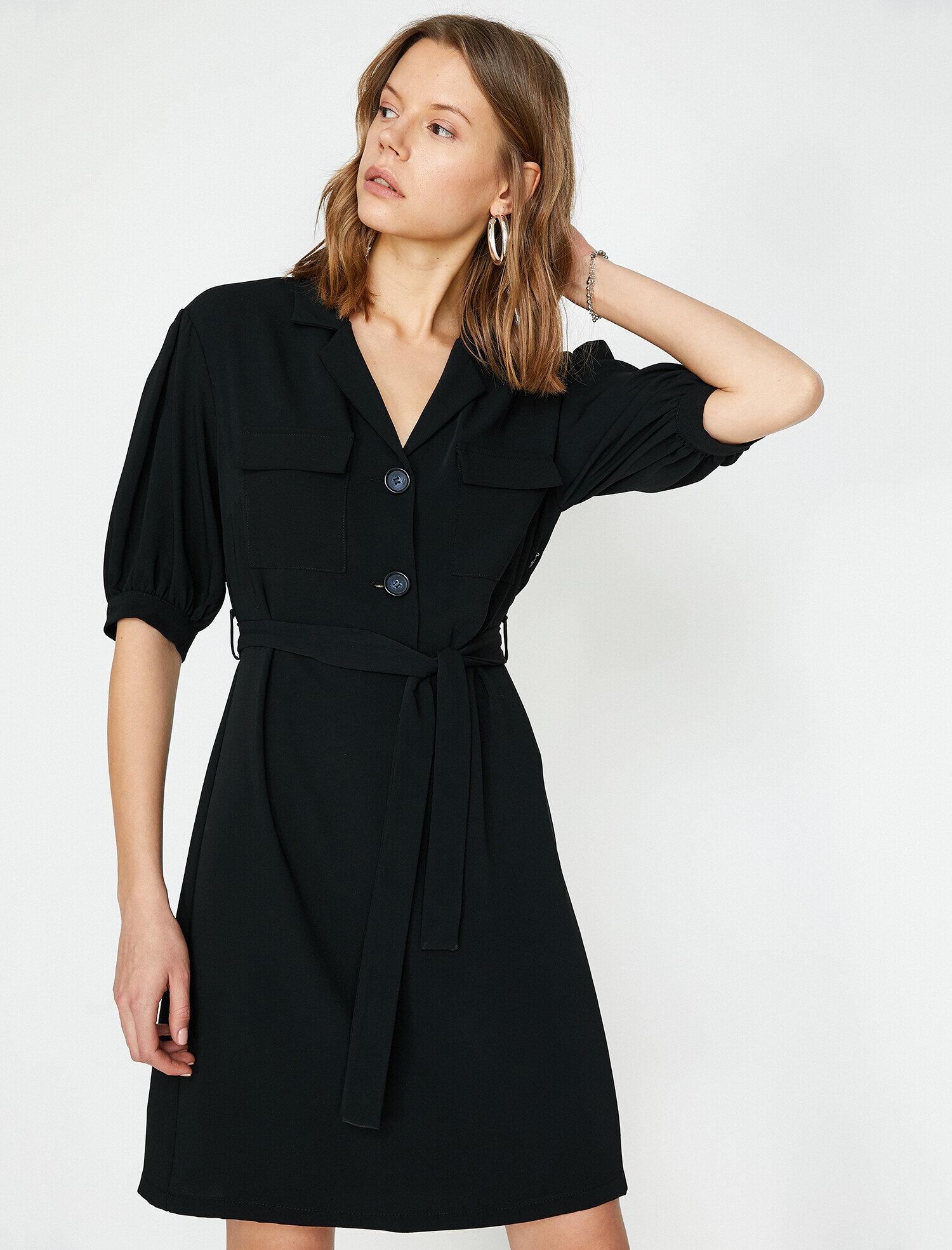 Koton  Kadın Dügme Detayli Elbise