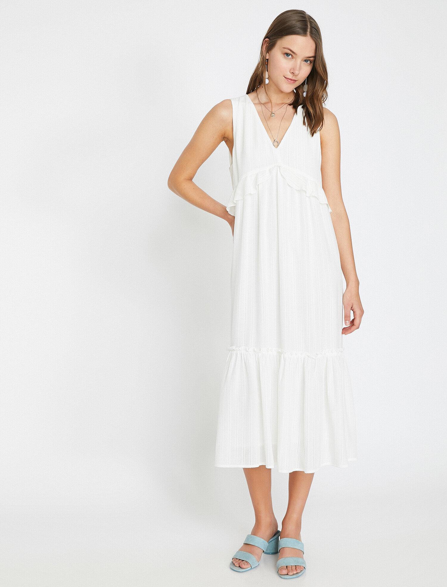 Koton Kadın The Summer White Dress – Beyaz Yaz Elbisesi