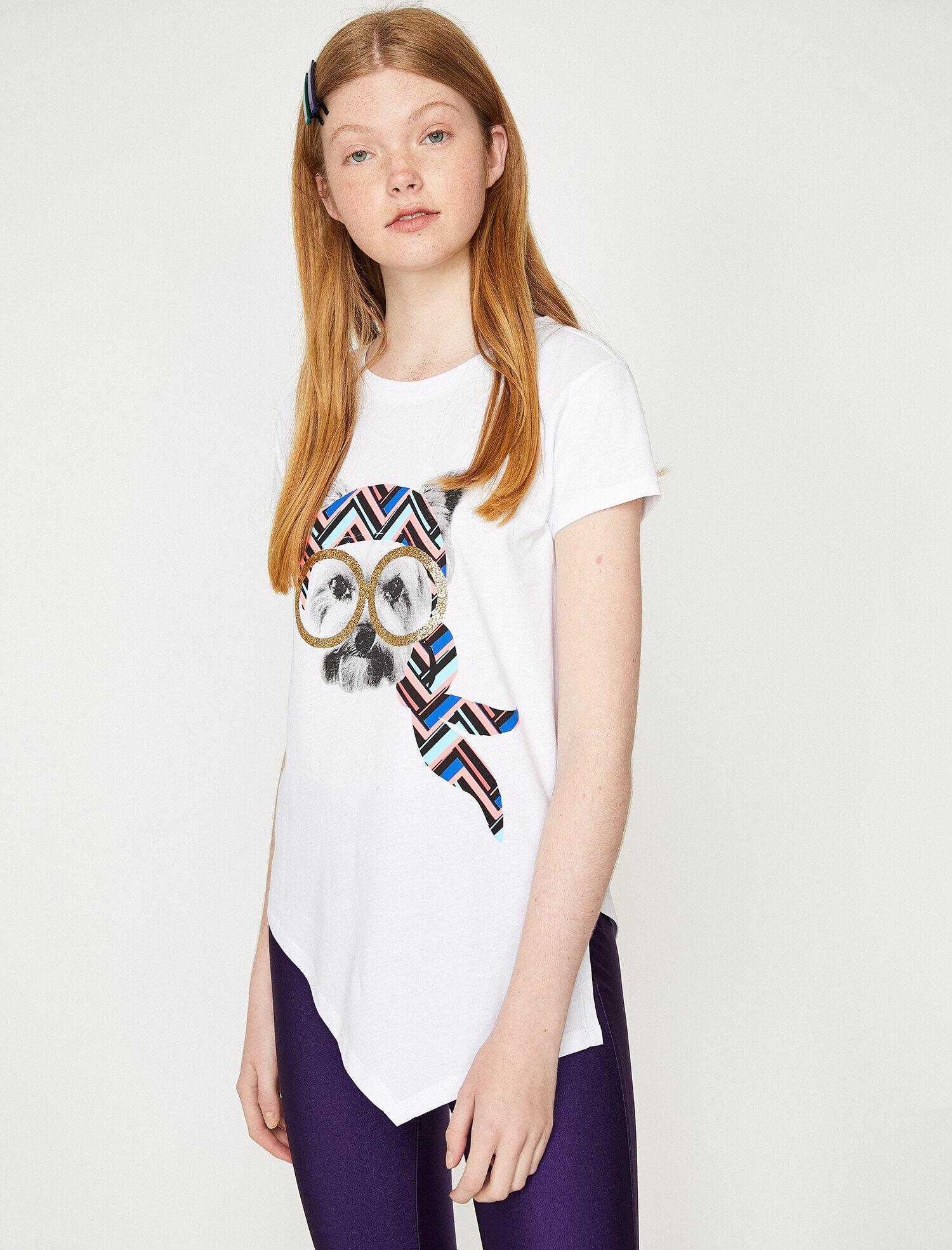 Koton Kadın Baskili T-Shirt Ekru Ürün Resmi