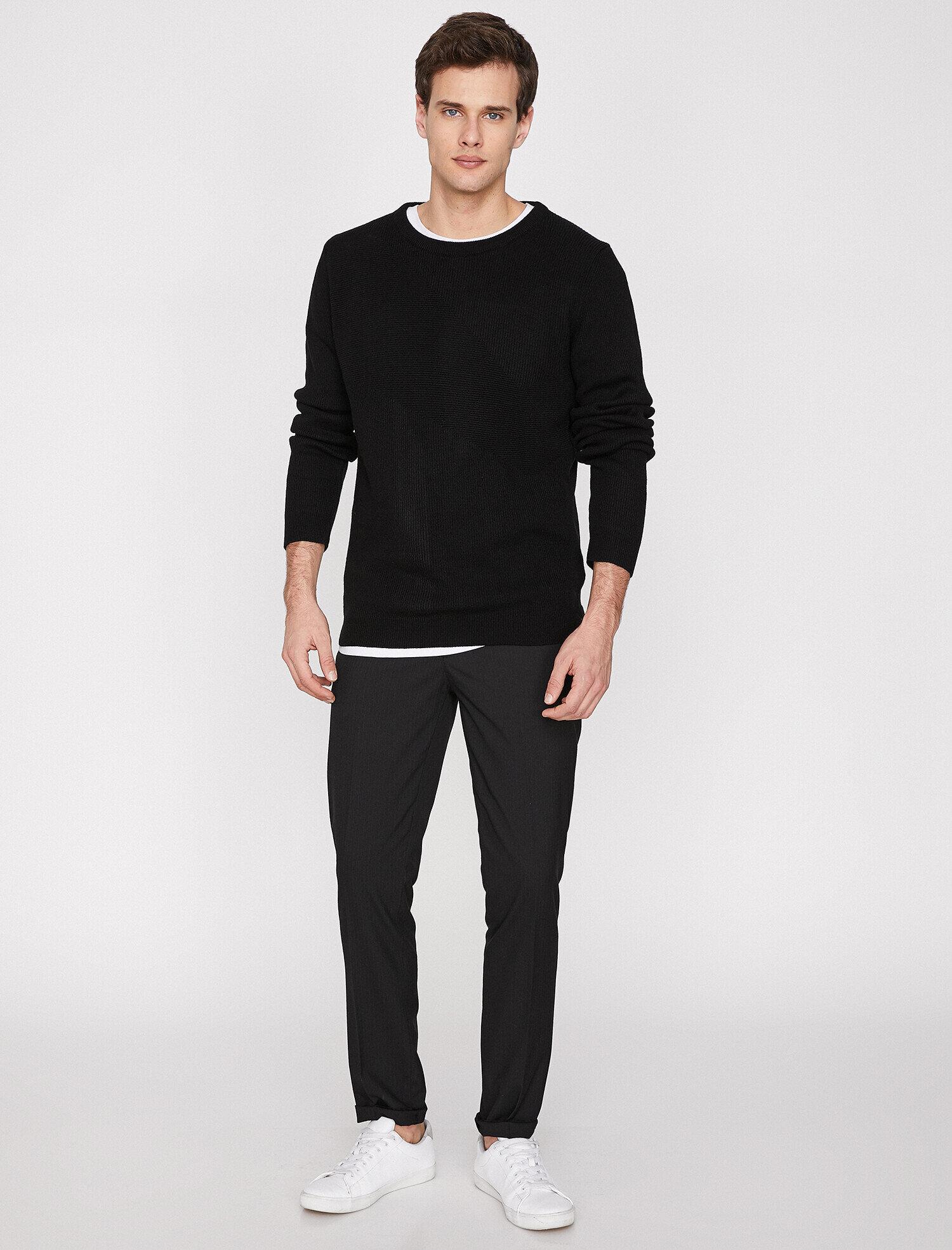 Koton Erkek Cep Detayli Pantolon Siyah Ürün Resmi