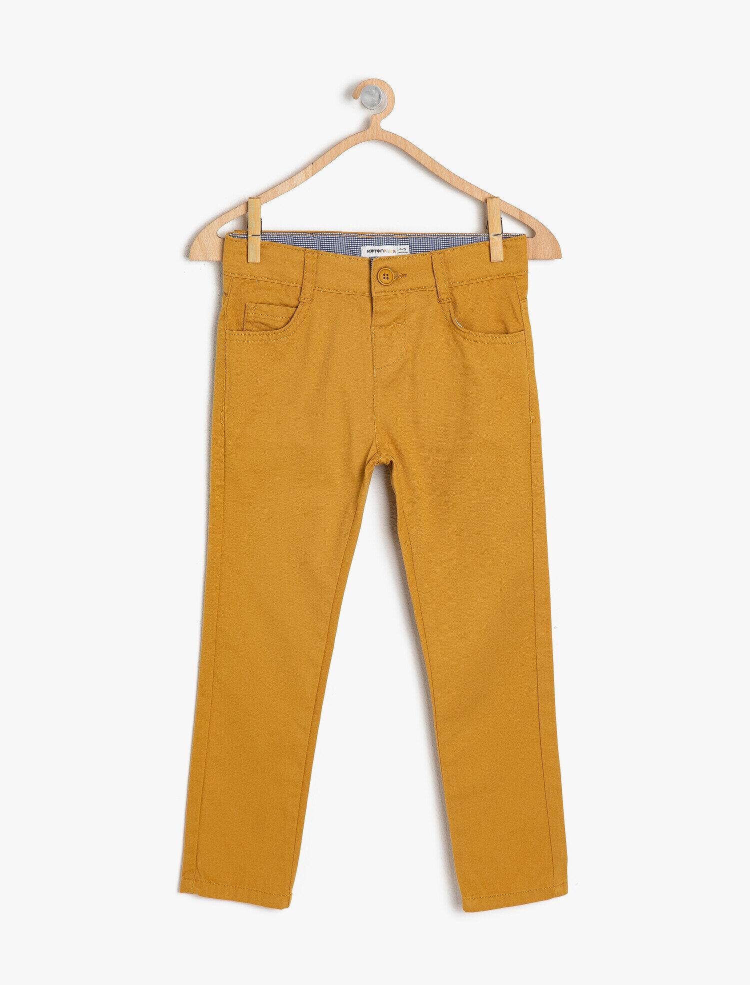 Koton Erkek Çocuk Normal Bel Pantolon Sarı Ürün Resmi