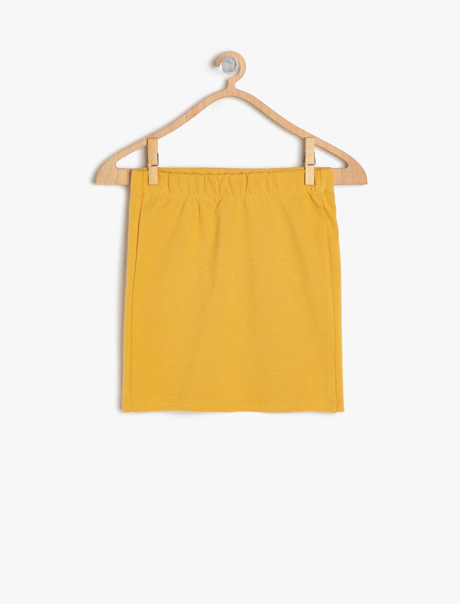 Koton Kız Çocuk Normal Bel Etek Sarı Ürün Resmi