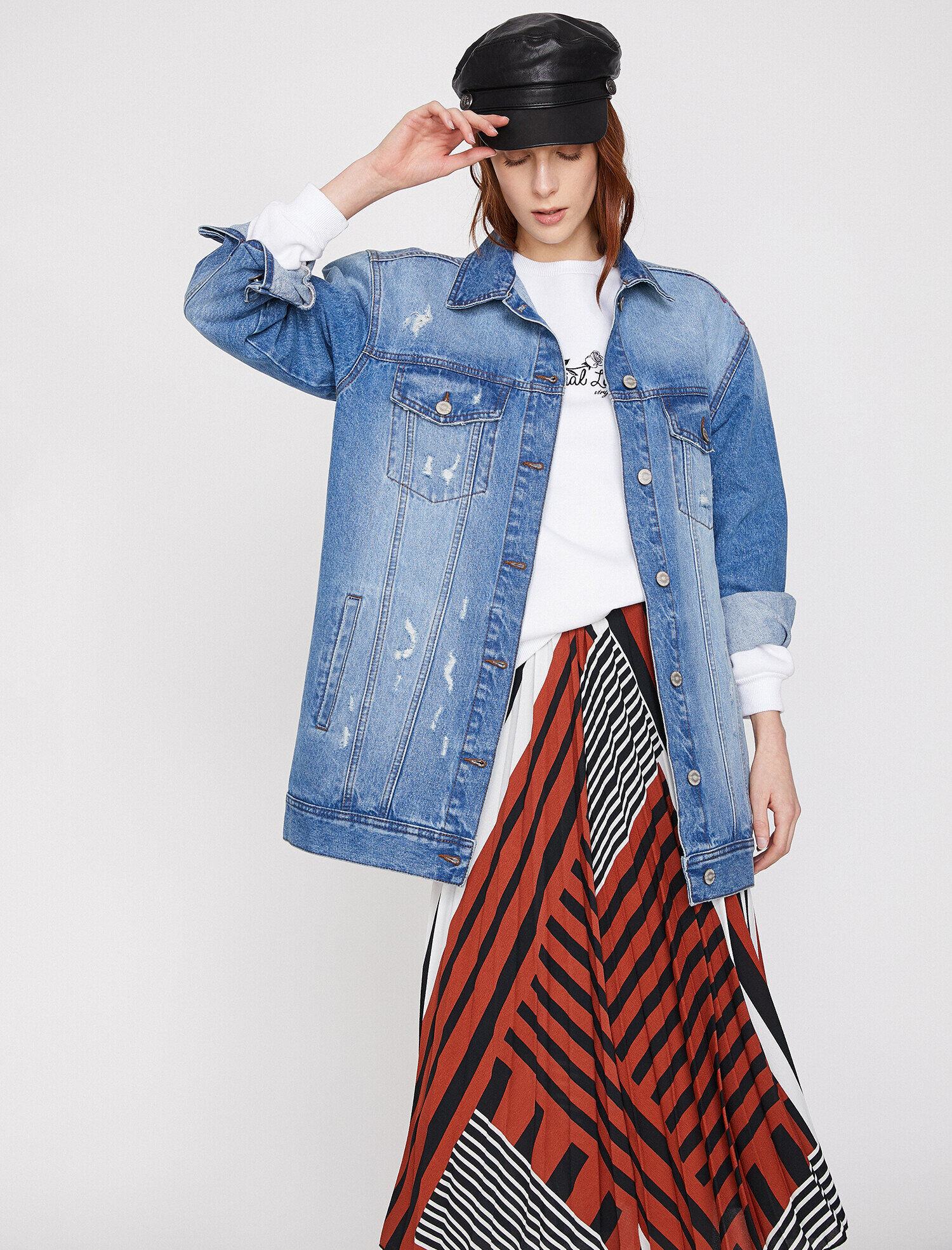 Koton Kadın Klasik Yaka Jean Jacket